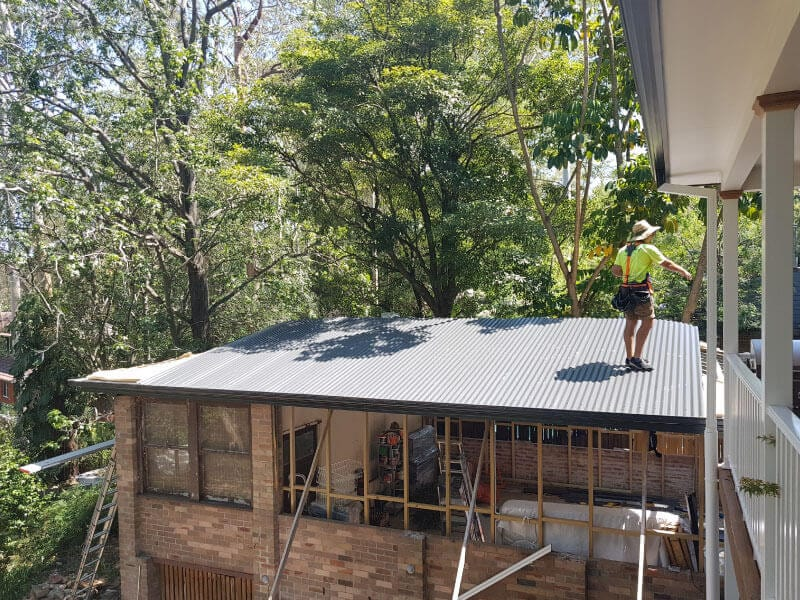 colorbond metal roof sydney north shore