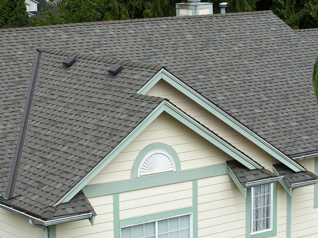 Fibreglass shingle roof